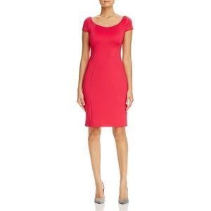 T TAHARI Womens Pepita Short Sleeve Work Dress